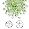Bead, Swarovski crystal, peridot, 3mm Xilion bicone (5328). Sold per pkg of 144 (1 gross).
