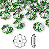Bead, Swarovski crystal, peridot, foil back, 10x3.5mm faceted marguerite lochrose flower (3700). Sold per pkg of 12.