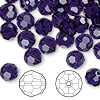 Bead, Swarovski crystal, purple velvet, 8mm faceted round (5000). Sold per pkg of 288 (2 gross).