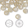 Bead, Swarovski crystal, sand opal, 8mm faceted round (5000). Sold per pkg of 288 (2 gross).