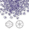 Bead, Swarovski crystal, tanzanite, 4mm Xilion bicone (5328). Sold per pkg of 144 (1 gross).