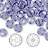 Bead, Swarovski crystal, tanzanite, 8mm faceted round (5000). Sold per pkg of 288 (2 gross).