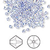 Bead, Swarovski crystal, tanzanite AB, 3mm Xilion bicone (5328). Sold per pkg of 48.