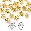 Bead, Swarovski crystal, topaz, 8x8mm faceted star (5714). Sold per pkg of 288 (2 gross).