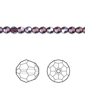 Swarovski Crystal Limited Edition Amethyst Moonlight Bicone 5328 Beads; 4mm// 6mm