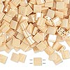 Bead, Tila®, glass, opaque ceylon light caramel, (TL593), 5x5mm square with (2) 0.8mm holes. Sold per 40-gram pkg.