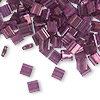 Bead, Tila®, glass, transparent luster light amethyst gold, (TL316), 5x5mm square with (2) 0.8mm holes. Sold per 40-gram pkg.
