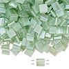 Bead, Tila®, glass, transparent sea foam, (TL370 ), 5x5mm square with (2) 0.8mm holes. Sold per 40-gram pkg.
