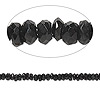 Bead, black spinel (natural), 3x1mm-4x2mm hand-cut faceted rondelle, B- grade, Mohs hardness 8. Sold per 14-inch strand.