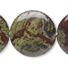 Bead, dragon blood jasper (natural), 30mm flat round, B grade, Mohs hardness 6-1/2 to 7. Sold per 16-inch strand.