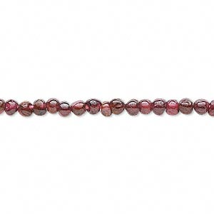Bead, garnet (dyed), 3-4mm hand-cut round, D grade, Mohs hardness 7 to 7-1/2. Sold per 14-inch strand.