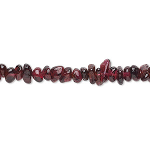 Bead, garnet (dyed), small chip, Mohs hardness 7 to 7-1/2. Sold per 36-inch strand.