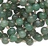 Bead, green aventurine (natural), 7-9mm hand-cut round, D grade, Mohs hardness 7. Sold per 36-inch continuous strand.