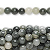 Bead, green line jasper (natural), 6mm round, C grade, Mohs hardness 6-1/2 to 7. Sold per pkg of (10) 16-inch strands.