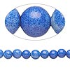 Bead, howlite (imitation), blue, 6-7mm round. Sold per 15-inch strand.
