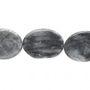 Bead, marble (coated), 19x15mm-21x16mm flat oval, D grade, Mohs hardness 3. Sold per 15-inch strand. Minimum 5 per order.