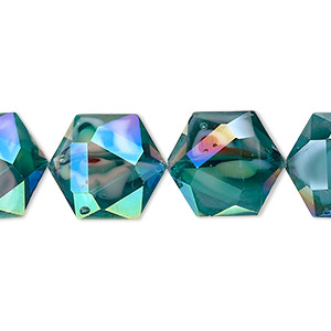 10 x 20mm New Pale Blue//Aqua Foil Lined Glass Hearts Top Drilled