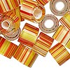 Bead mix, Fire Design Beads, cane glass, tropical sparkle, 12x8mm-16x10mm round tube with 4.5-7mm hole. Sold per 1-ounce pkg, approximately 10 beads.