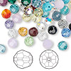 Bead mix, Swarovski crystal, Crystal Passions®, mixed colors, 6mm faceted round (5000). Sold per pkg of 144 (1 gross).