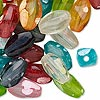 Bead mix, acrylic, mixed colors, 15x10mm oval. Sold per pkg of 100.