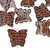 Bead mix, brown zebra stone (natural), 15x13mm-18x16mm carved butterfly, Mohs hardness 6-1/2 to 7. Sold per pkg of 10.