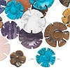 Bead mix, gemstone (natural / dyed), 12-15mm flower. Sold per 50-gram pkg, approximately 30 beads.