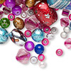 Bead mix, glass, mixed colors, 2-16mm mixed shape. Sold per 1/4 pound pkg, approximately 150-400 beads.