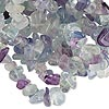 Bead, multi-fluorite (natural), medium chip, Mohs hardness 4. Sold per 35-inch strand.