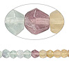 Bead, multi-fluorite (natural), shaded, 4-5mm hand-cut faceted round, B grade, Mohs hardness 4. Sold per 14-inch strand.