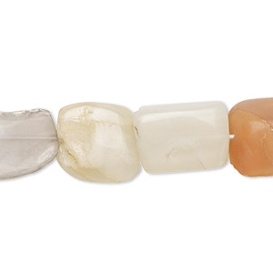 Bead, multi-moonstone (natural), small to large hand-cut nugget, Mohs hardness 6 to 6-1/2. Sold per 13-inch strand.