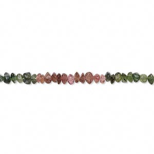 Bead, multi-tourmaline (natural), 2x1mm-4x3mm hand-cut rondelle, D grade, Mohs hardness 7 to 7-1/2. Sold per 14-inch strand.