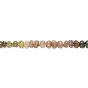 """14/"""" Strand Multi Tourmaline 4x2mm-6x5mm Hand-Cut Saucer Beads Natural"""