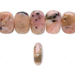 Bead, pink opal (natural), small nugget, Mohs hardness 5 to 6-1/2. Sold per 16-inch strand.