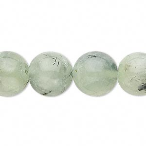 Bead, prehnite (natural), 13-14mm round, C grade, Mohs hardness 6 to 6-1/2. Sold per 14-inch strand.