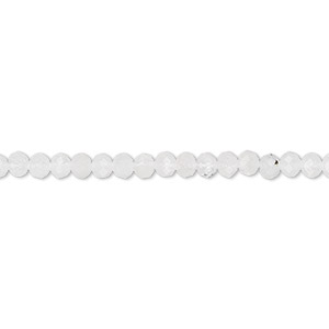 Bead, rainbow moonstone (natural), 3x2mm hand-cut faceted rondelle, B- grade, Mohs hardness 6 to 6-1/2. Sold per 13-inch strand.
