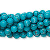 Bead, turquoise (imitation), 6mm round. Sold per pkg of (10) 16-inch strands.