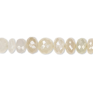Bead, white chalcedony (coated), luster, 7x4mm-8x6mm hand-cut faceted rondelle with 0.4-1.4mm hole, B grade, Mohs hardness 6-1/2 to 7. Sold per 6-inch strand.