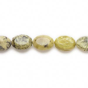 "Bead, yellow ""turquoise"" (natural), 18x13mm faceted oval, B grade, Mohs hardness 2-1/2 to 6. Sold per 16-inch strand."