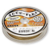 Beading wire, Accu-Flex®, 100% brass, 7 strand, 0.024-inch diameter. Sold per 30-foot spool.