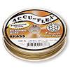 Beading wire, Accu-Flex®, 100% brass, 7 strand, 0.024-inch diameter. Sold per 100-foot spool.