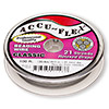 Beading wire, Accu-Flex®, clear, 21 strand, 0.012-inch diameter. Sold per 100-foot spool.
