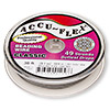 Beading wire, Accu-Flex®, clear, 49 strand, 0.024-inch diameter. Sold per 30-foot spool.