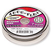 Beading wire, Accu-Flex®, high tension, clear, 7 strand, 0.0083-inch diameter. Sold per 100-foot spool.