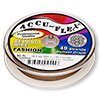 Beading wire, Accu-Flex®, metallic copper, 49 strand, 0.019-inch diameter. Sold per 30-foot spool.