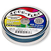 Beading wire, Accu-Flex®, nylon and stainless steel, Crater Lake blue, 49 strand, 0.019-inch diameter. Sold per 100-foot spool.