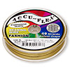 Beading wire, Accu-Flex®, nylon and stainless steel, Dijon gold, 49 strand, 0.024-inch diameter. Sold per 100-foot spool.