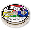 Beading wire, Accu-Flex®, nylon and stainless steel, bronze, 49 strand, 0.014-inch diameter. Sold per 30-foot spool.