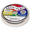 Beading wire, Accu-Flex®, nylon and stainless steel, gunmetal, 49 strand, 0.014-inch diameter. Sold per 30-foot spool.