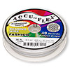 Beading wire, Accu-Flex®, pearl, 49 strand, 0.024-inch diameter. Sold per 30-foot spool.