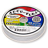 Beading wire, Accu-Flex®, snow white, 49 strand, 0.024-inch diameter. Sold per 100-foot spool.